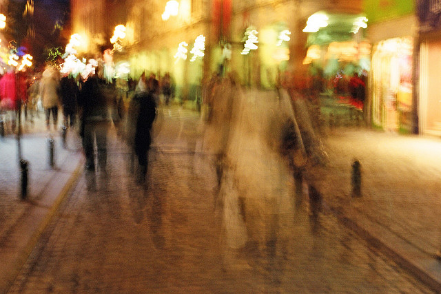 Blurry Streets of Brussels by Kristaps Bergfelds